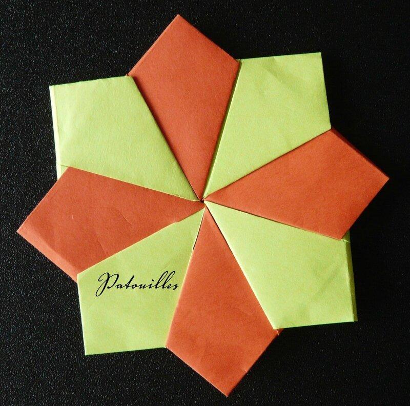 Origami étoile 5