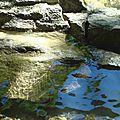 Eau de cascade du Hérisson et rochers