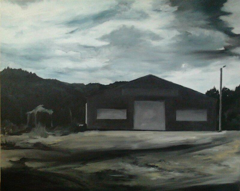 Linda Roux, Chamalière-sur-loire, acrylique sur toile, 120 x 100 cm, 2011