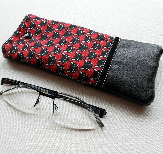 Etuis à lunettes tête de chat noir