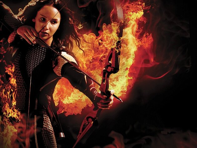 Jennifer Lawrence dans le rôle de Katniss Everdeen