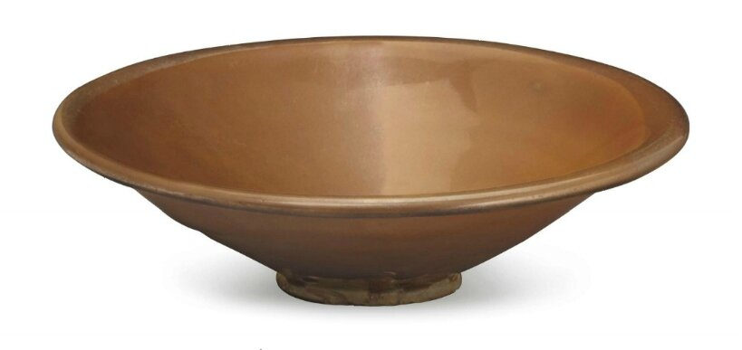 A Yaozhou russet-glazed conical bowl, China, Northern Song-Jin Dynasty, 11th-12th century