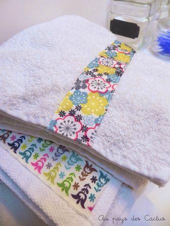 DIY customiser serviettes bain rubans Au pays des Cactus 6