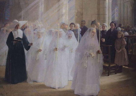 Triquet Jules Octave (French, 1867-1914) «Solemn Communion»
