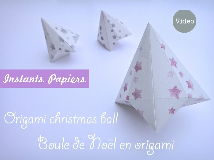 boule de no l en origami origami christmas bell. Black Bedroom Furniture Sets. Home Design Ideas