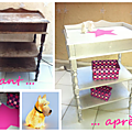 Relooking table de chevet avant / apres