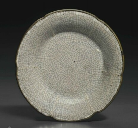A rare ge-type mallow-form dish, Yuan-early Ming Dynasty, 13th-14th century