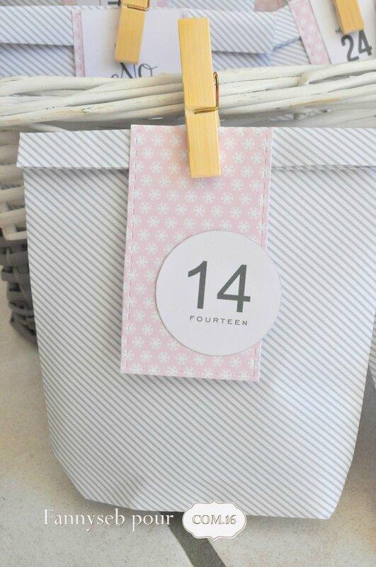 calendrier de l'avent sachet 14 fannyseb collection éthan mélanie papiers COM16 SIGNATURE