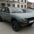 Peugeot 505 grd break dangel 4x4, 1985 à 1990
