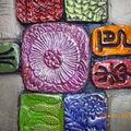 tableaux mosaîques argile