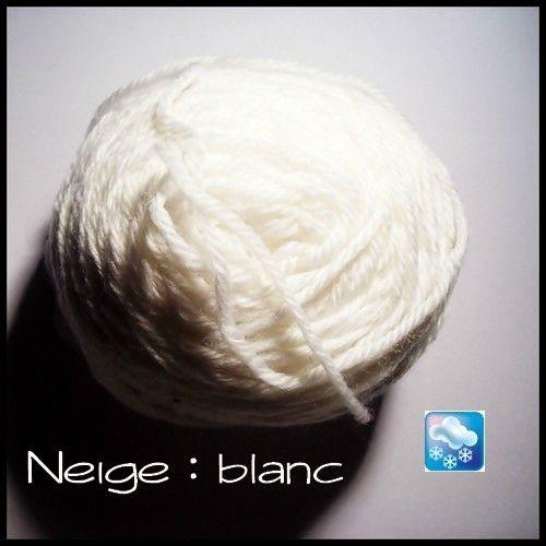 laine blanc