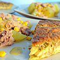 Quiche au thon et curry de navets