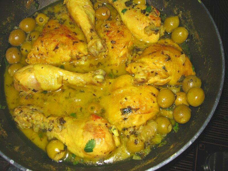 Tajine de poulet aux olives1