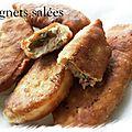 Beignets salés avec la pâte des 10 min