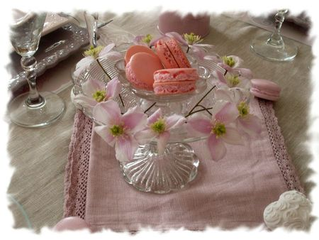 table rose poudrée 035
