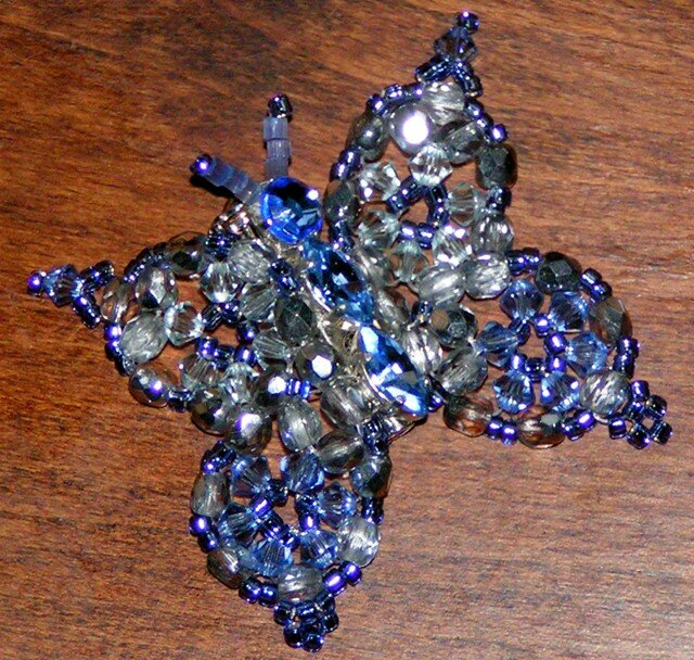 papillon bleu flash
