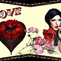 Cartes de st valentin , je les ai pas signés pour faire plaisir au internautes qui ne savent pas les faire ! bonne st valentin