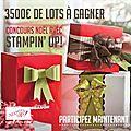 Jouez et gagnez 3500 € de lots stampin'up!