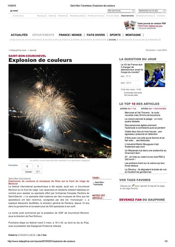Article de presse saint bon courchevel