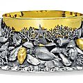 An italian parcel-gilt silver centerpiece, mark of lisi, florence, 20th century