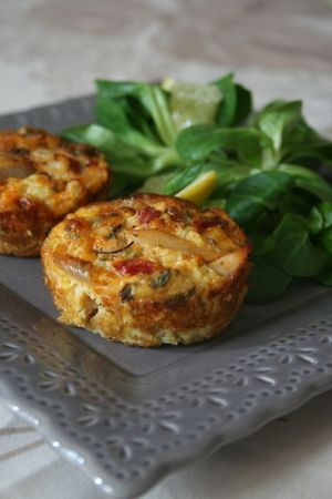 Mini fritata de dinde et poivron rouge
