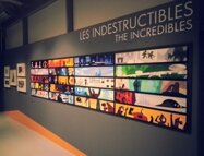 Expo Pixar, 25 Ans d'Animation - Color script des Indestructibles version XXL