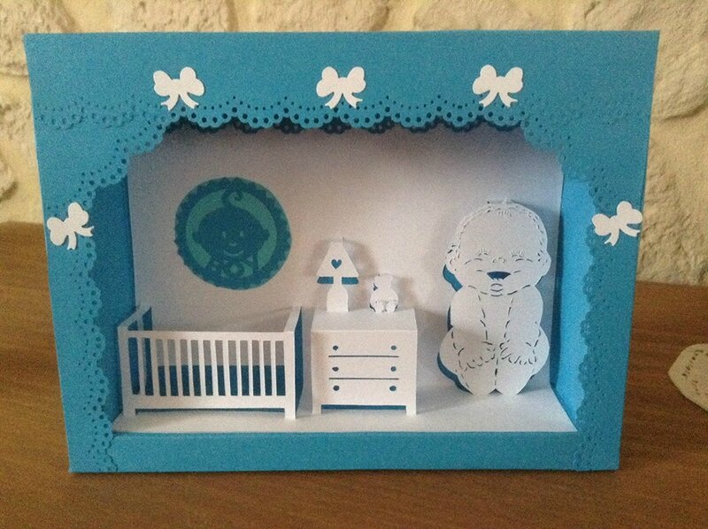 cadre chambre bebe filles et gar ons en kirigami kirigami mes travaux en papier. Black Bedroom Furniture Sets. Home Design Ideas