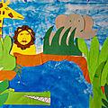 Fresque des animaux de la savane