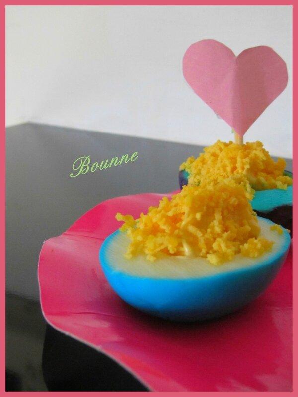 Oeuf mimosa colorés st valentin 2014 (5)
