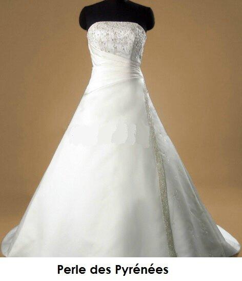 "Robe de mariée ""Eryn"" 349€ sur commande Taille 34 à 54 , JUPON + PORT OFFERT"