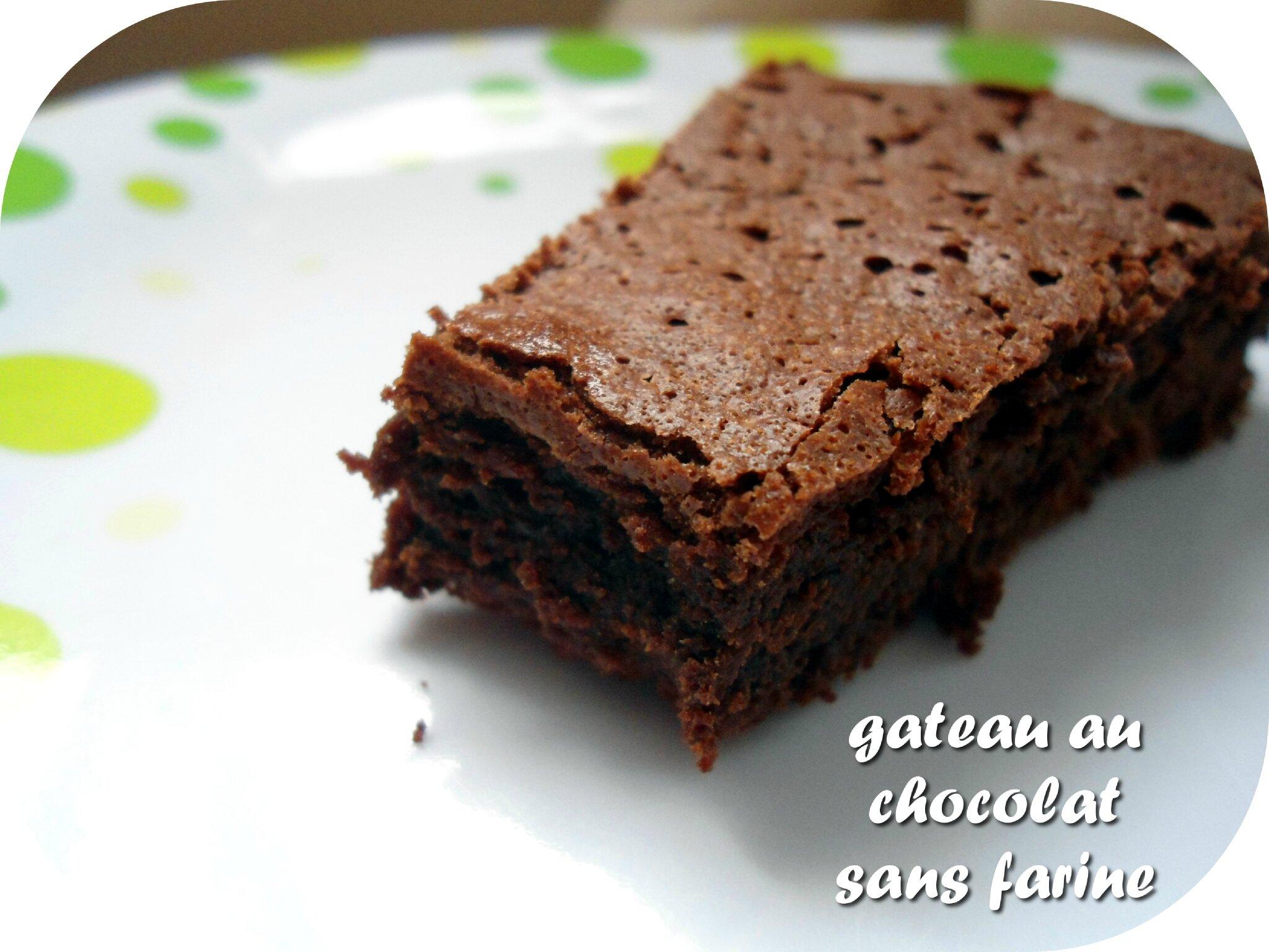 Gateau sans farine et chocolat