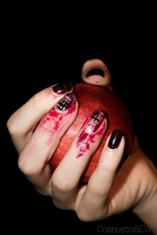 nail art halloween zombie-10