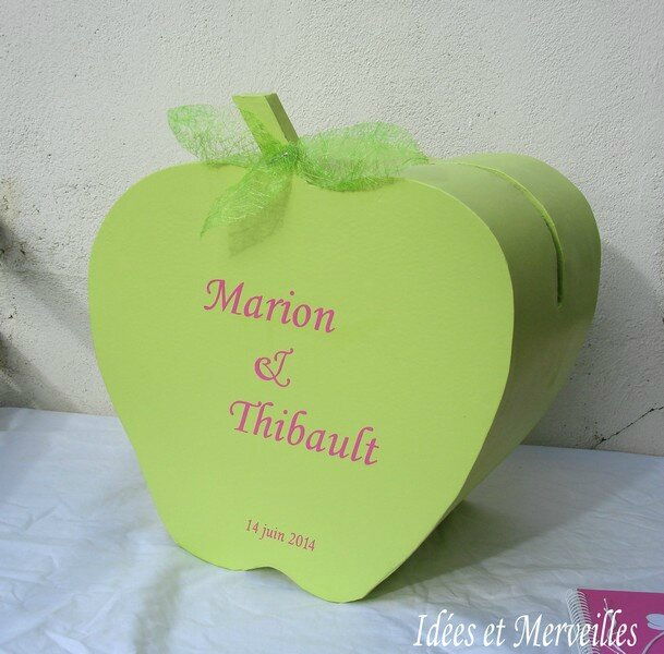 urne mariage pomme - idees et merveilles