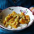Curry de butternut aux pois chiches