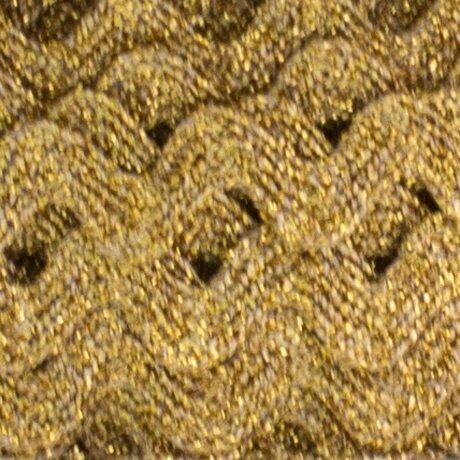 Serpentine 10 mm lamé or au mètre