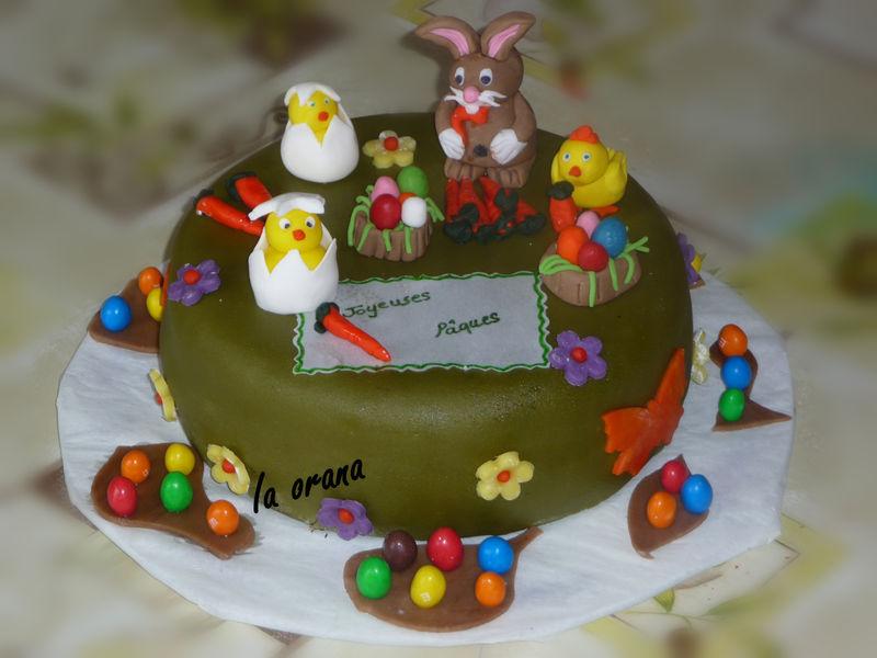 G teau de p ques pour l 39 cole easter cake mes petits g teaux rigolos - Gateau pate a sucre paques ...