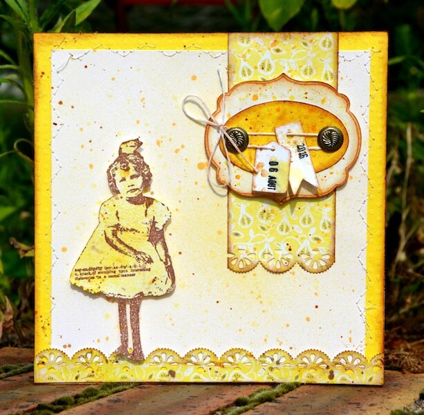 MIS Summer Scrap Cocktail Spritz 2016 - Carte d'anniversaire Gribouille 1 - Août 2016