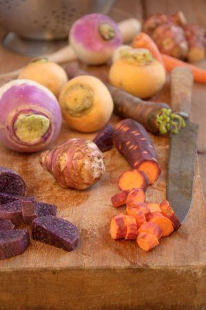 Rôti de boeuf en cocotte et sauté de petits légumes racines glacés au jus 7