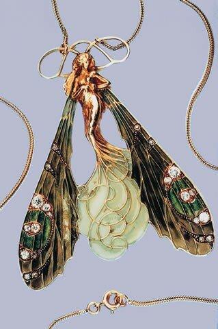 Bijou - Pendant de cou - Femme libellule