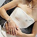 Grand bracelet de bras mariage, Bracelet spirale Mirage