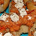 Bruschettas thon, tomate et feta