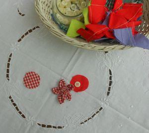 barettes fleurs tissu 003