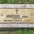 Soldat Albert ANDRIEUX