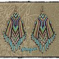 B.o. feather earrings et polaris earrings