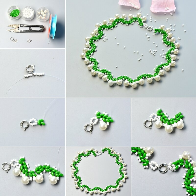 1080-How-to-Make-a-Collar-Necklace-with-2-Hole-Seed-Beads-and-White-Pearl-Beads