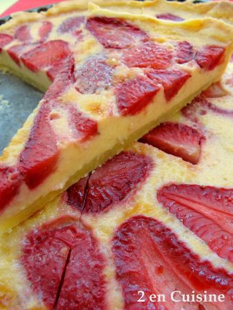 Tarte Fraises Bananes 3