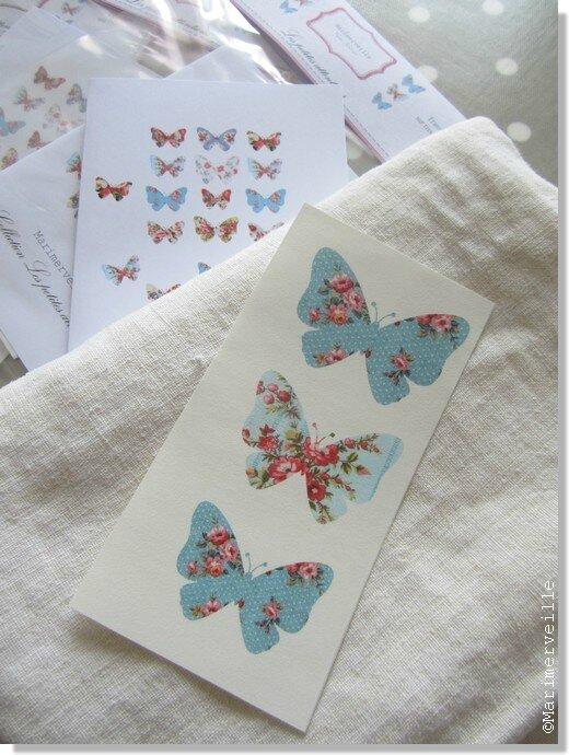 Transfert Marimerveille papillons N° 1