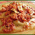 Triangolini sauce chorizo et poivrons grillés (cuisine express)