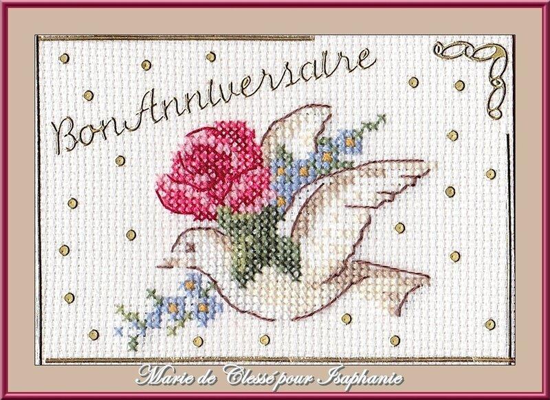 Échange ATC Perso (Fleurs Anniversaire) Février Marie de clessé pour Isaphanie 1