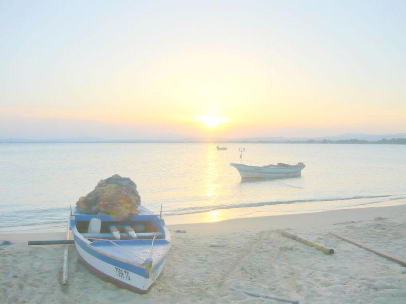 Le coucher de soleil du jeudi 18 septembre 2008.